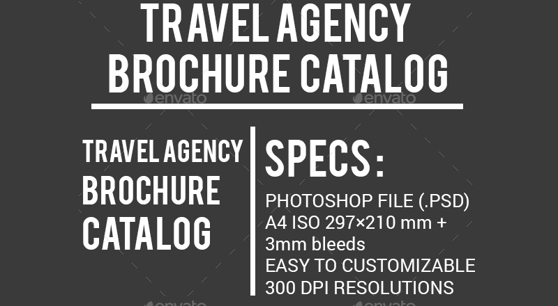 catalog travel agency brochure