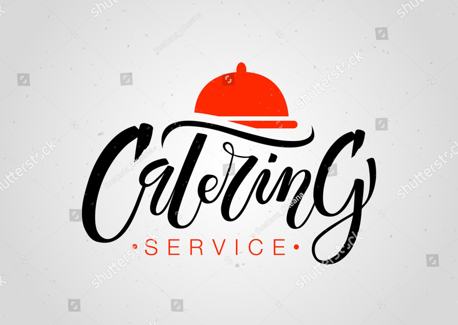 catering service logo template