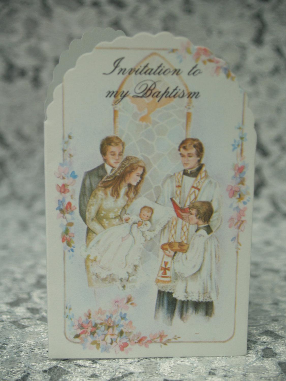 ceremony baptism invitation