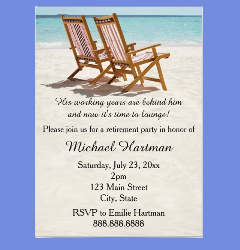 chairs retirement party invitation