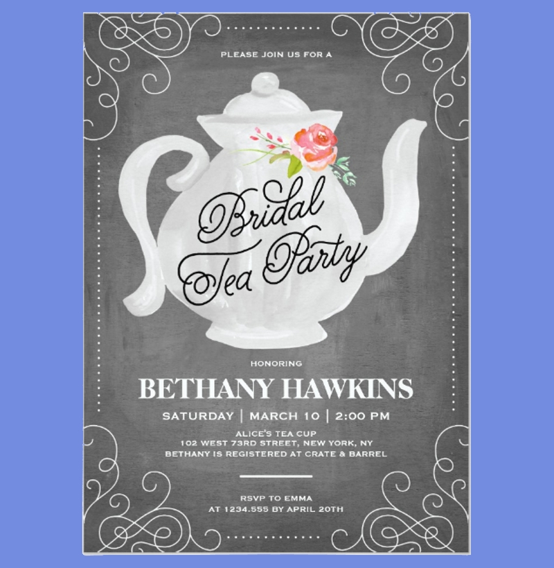 chalkboard bridal tea party2