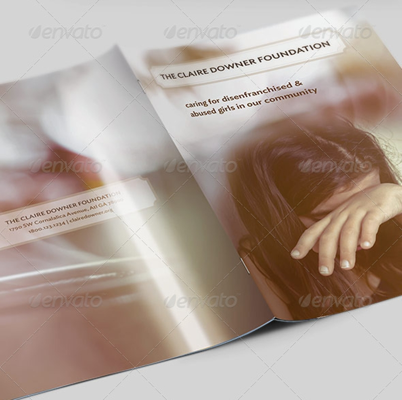 charity foundation brochure template