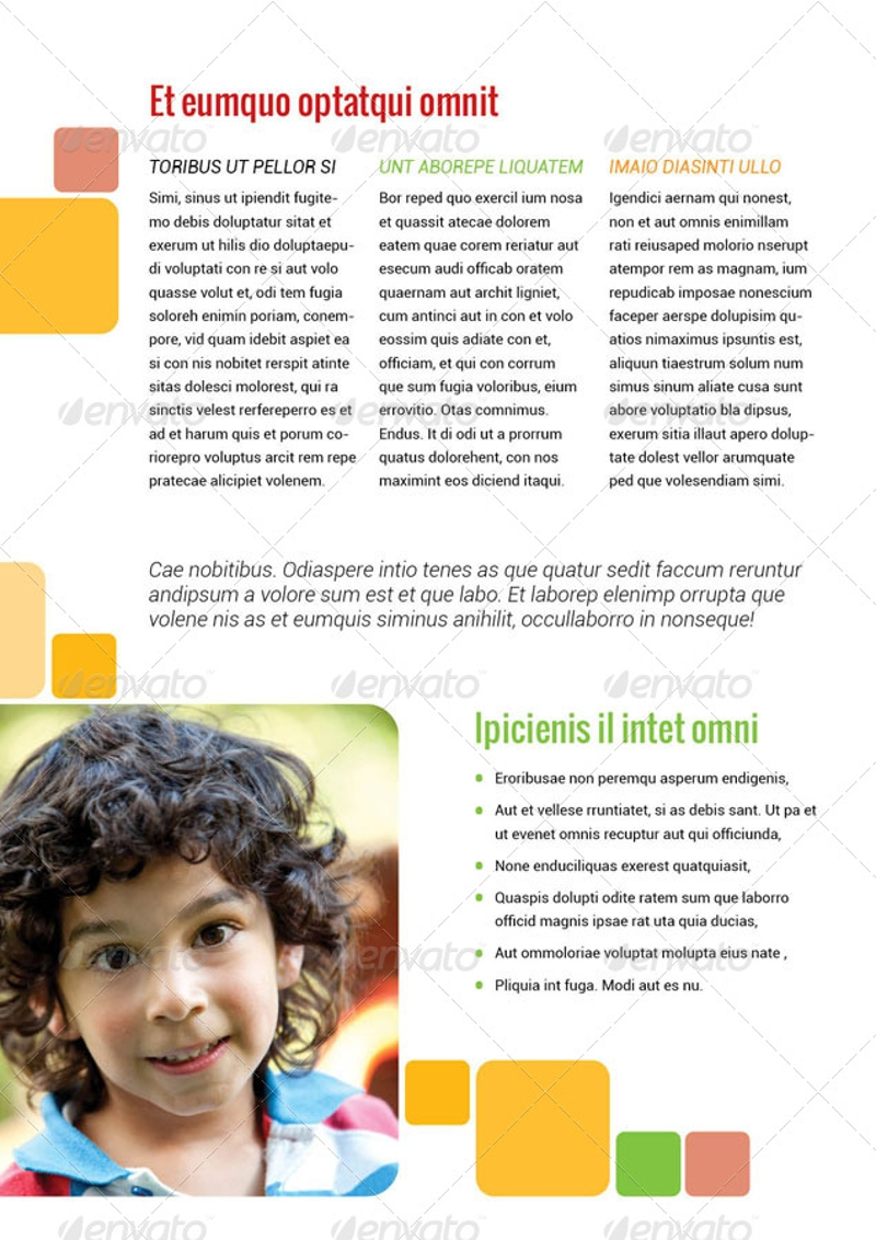 child care bi fold brochure