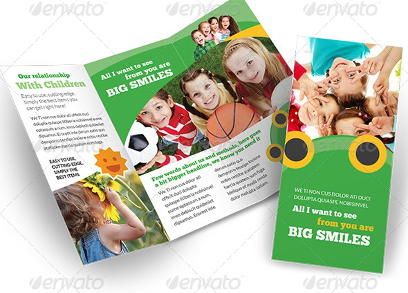 child care happy kids brochure