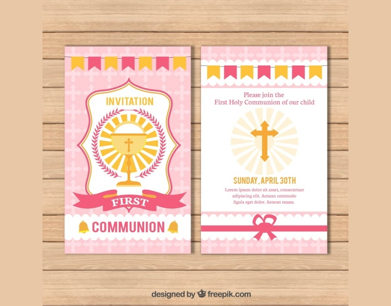 child first communion invitation