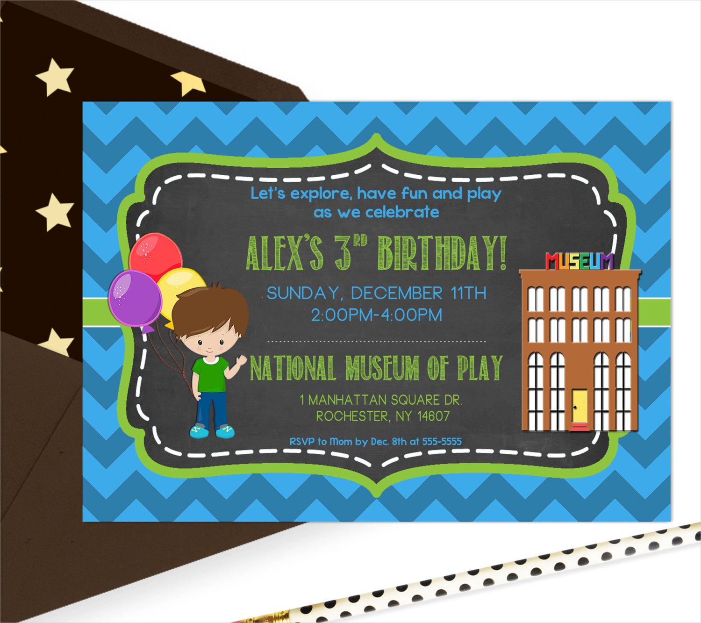 childrens museum invitation