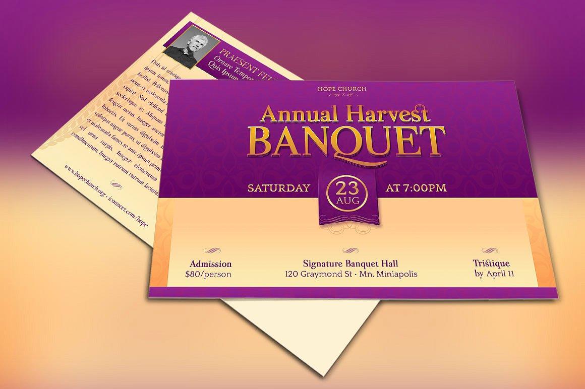 church banquet invitation