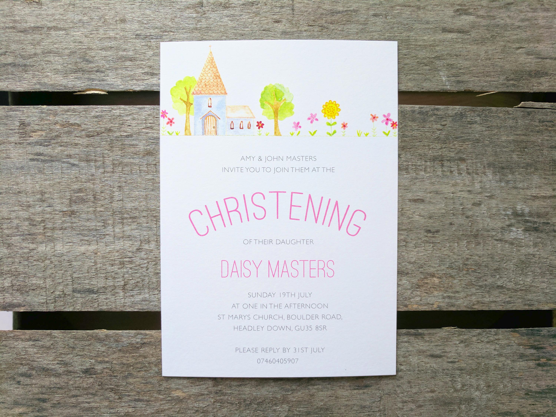 church christening invitation