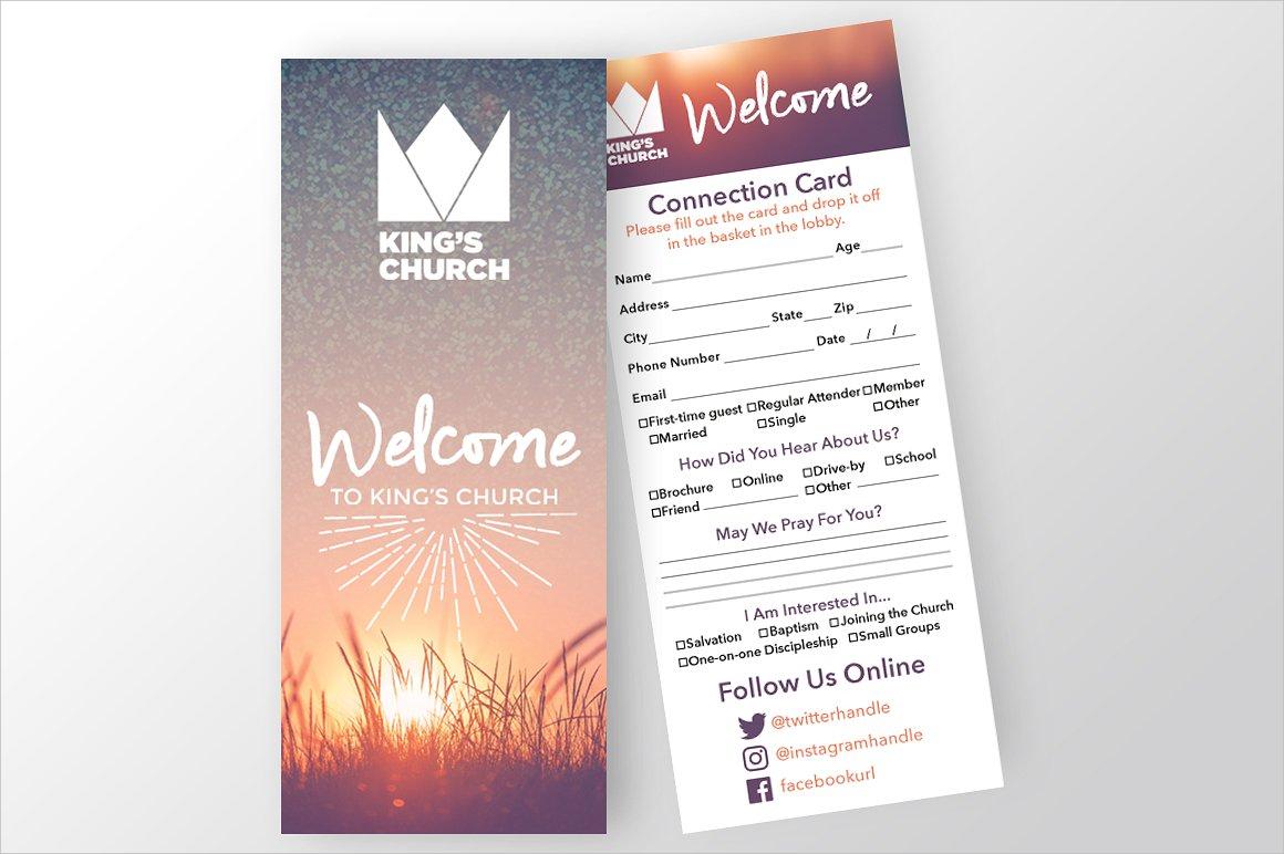 church connection invitation card