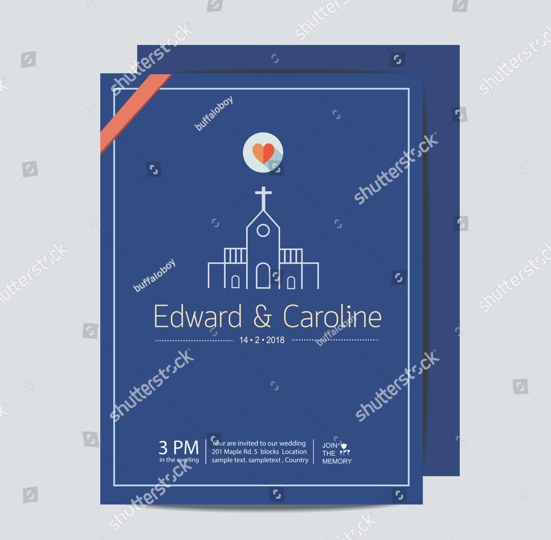 church love wedding invitation