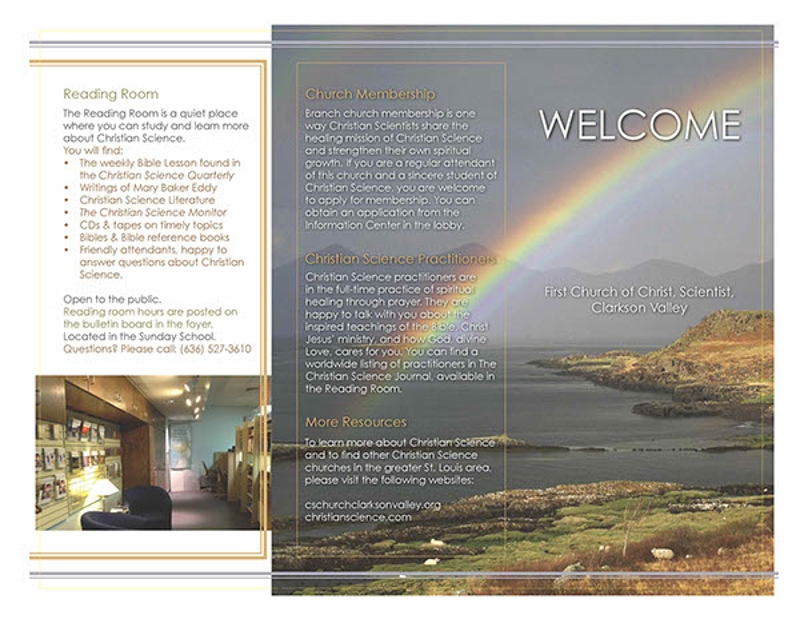 church tri fold brochure