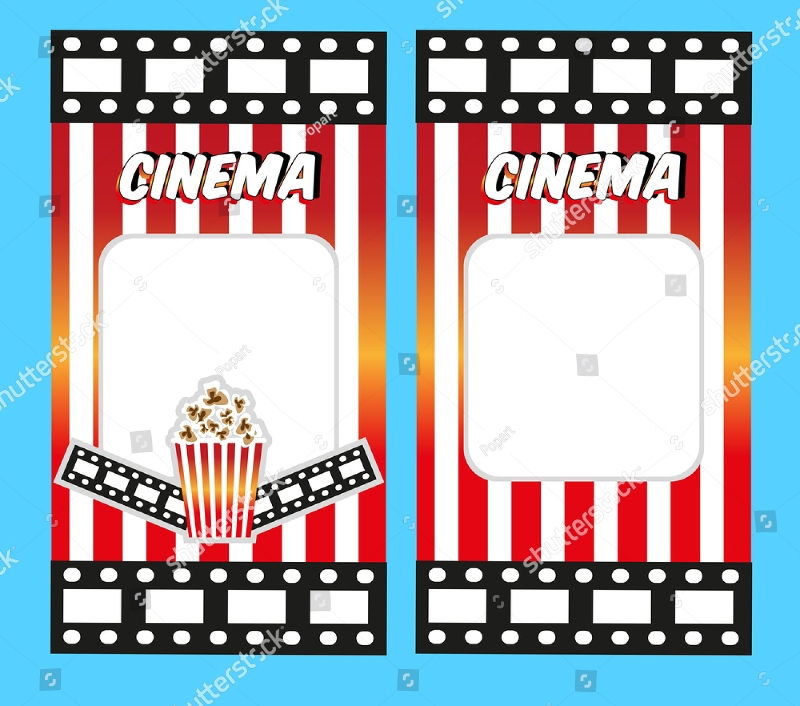 cinema ticket invitation