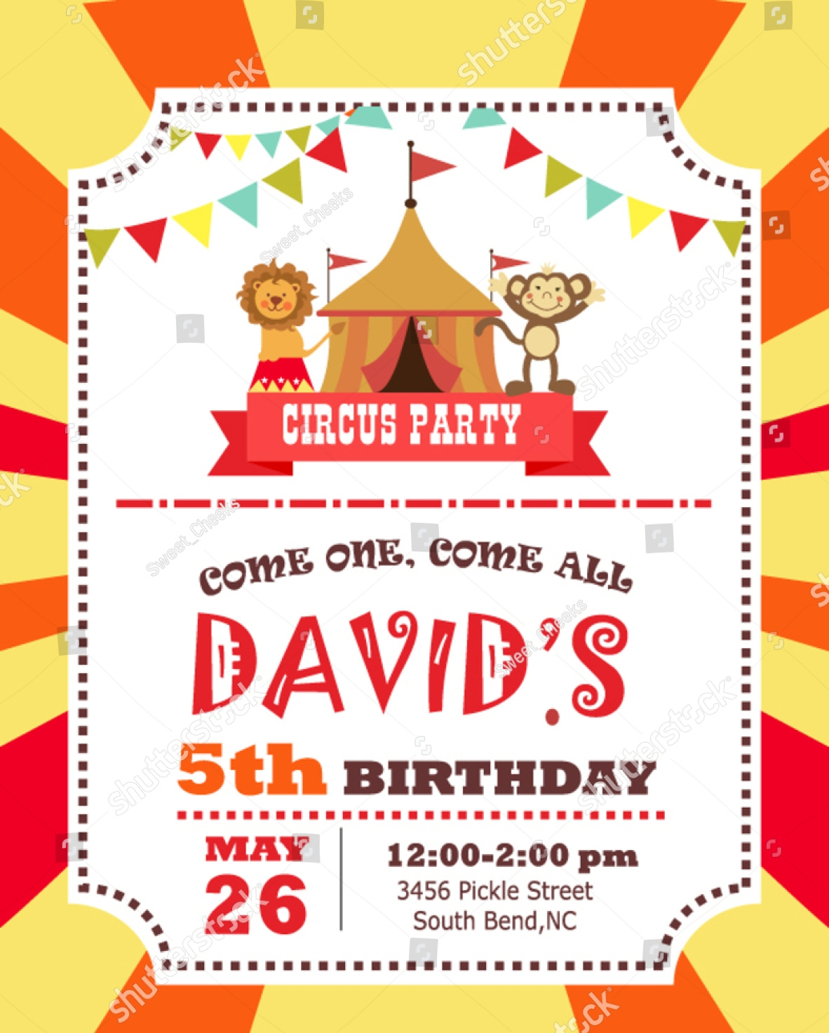 14 circus invitation designs and examples psd ai circus party invitation stopboris Images