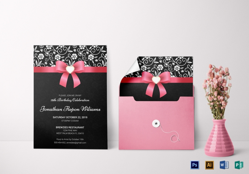 14 debut invitation designs examples psd ai eps vector classic debut invitation card template stopboris Images