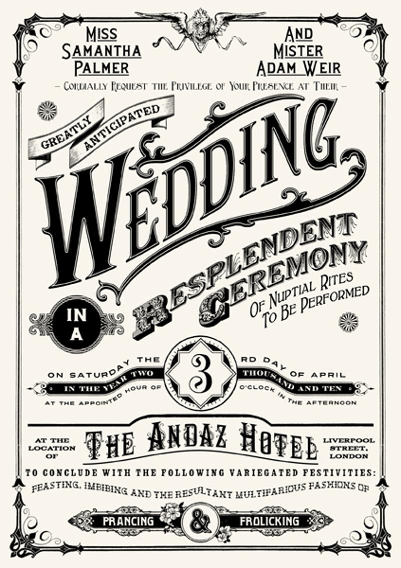 classic free wedding invitation