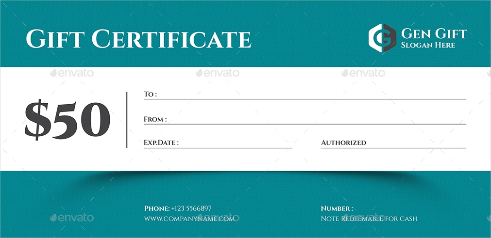 classic gift certificate
