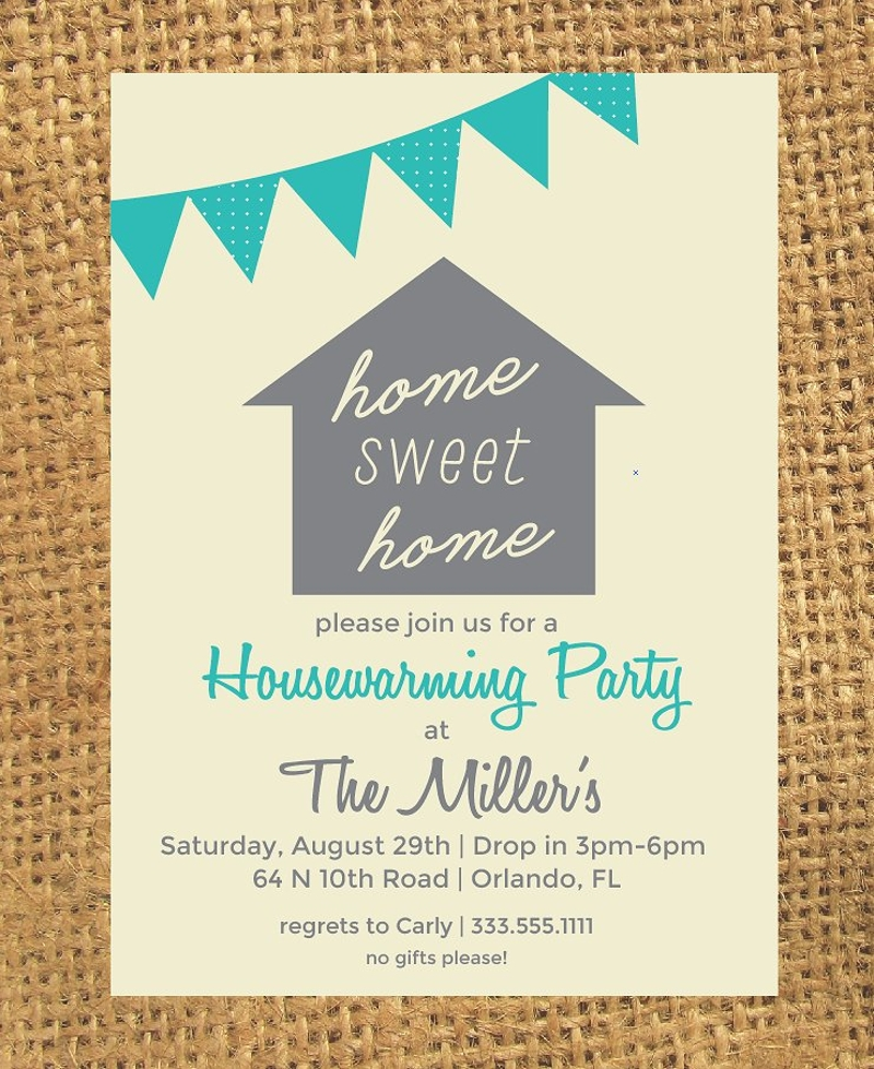 classic housewarming party invitation