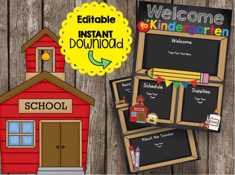classroom kindergarten brochure