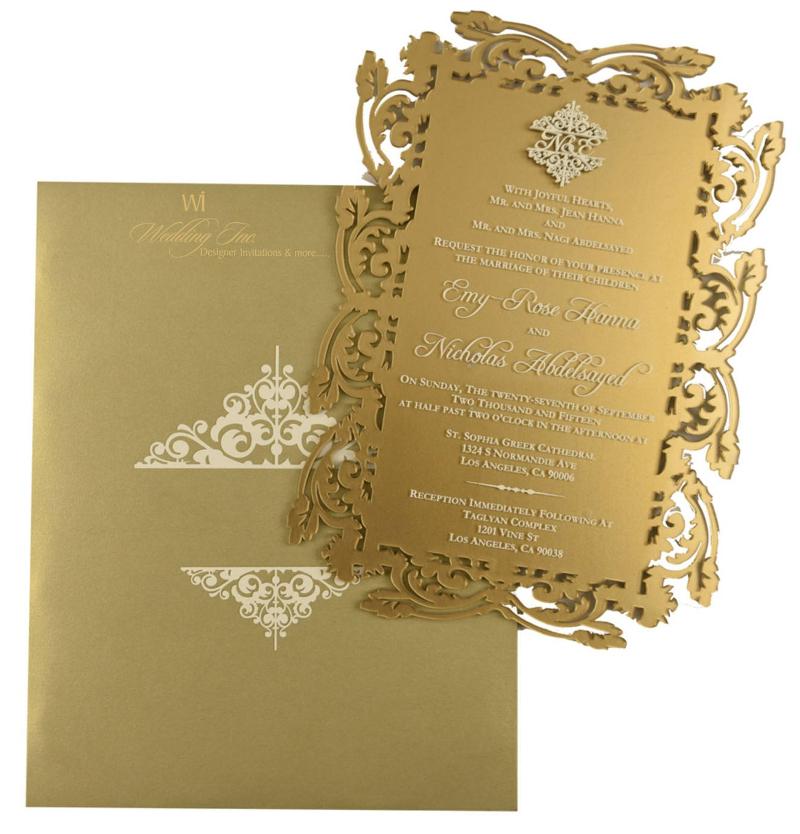 classy acrylic invitation design