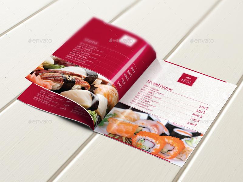 classy food menu brochure