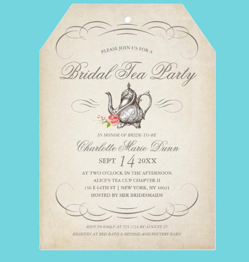 classy vintage bridal tea party