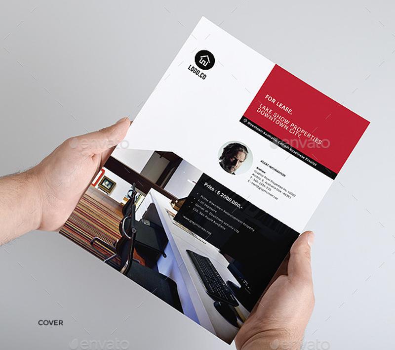 clean realtor real estate brochure