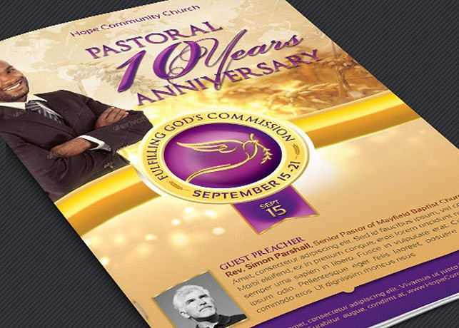 clergy anniversary service program