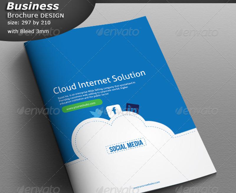 cloud social media business brochure