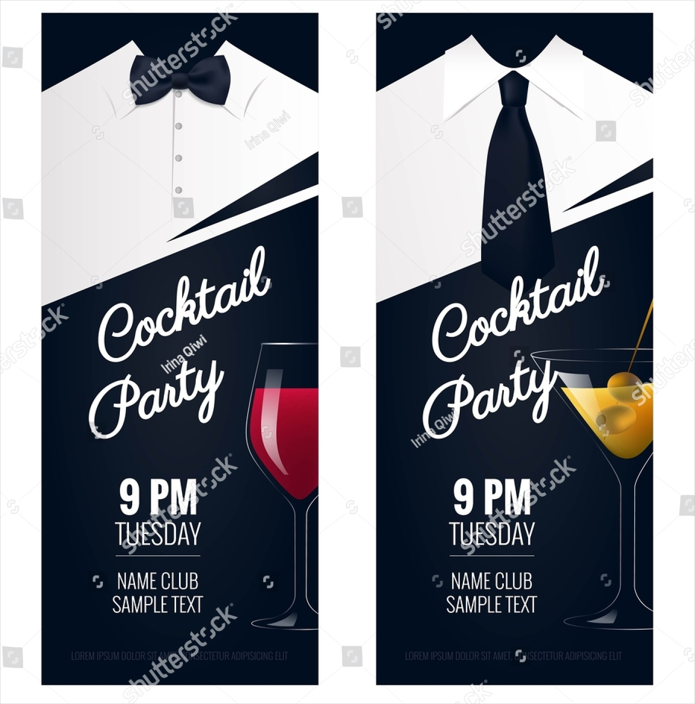cocktail dj party invitation