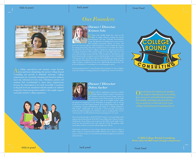 college bound consulting brochure