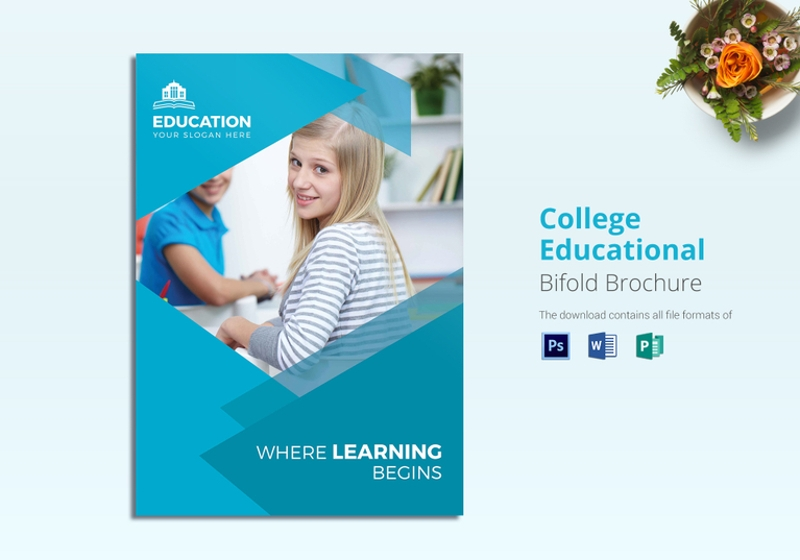 college educational brochure template