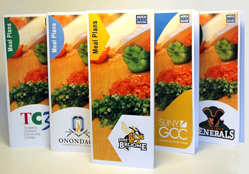 college meal plan brochure