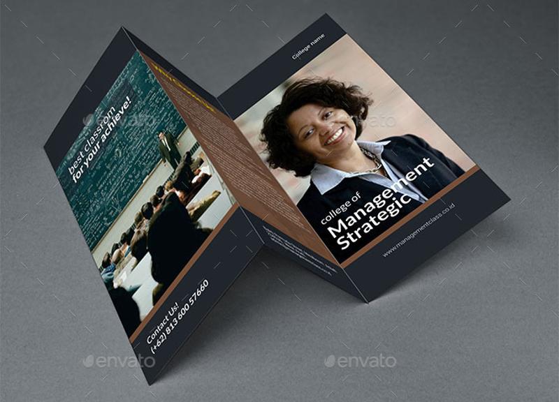 college tri fold brochure