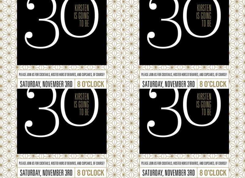 colorful 30th birthday party invitation