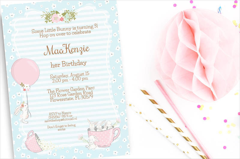 colorful birthday tea party invitation1