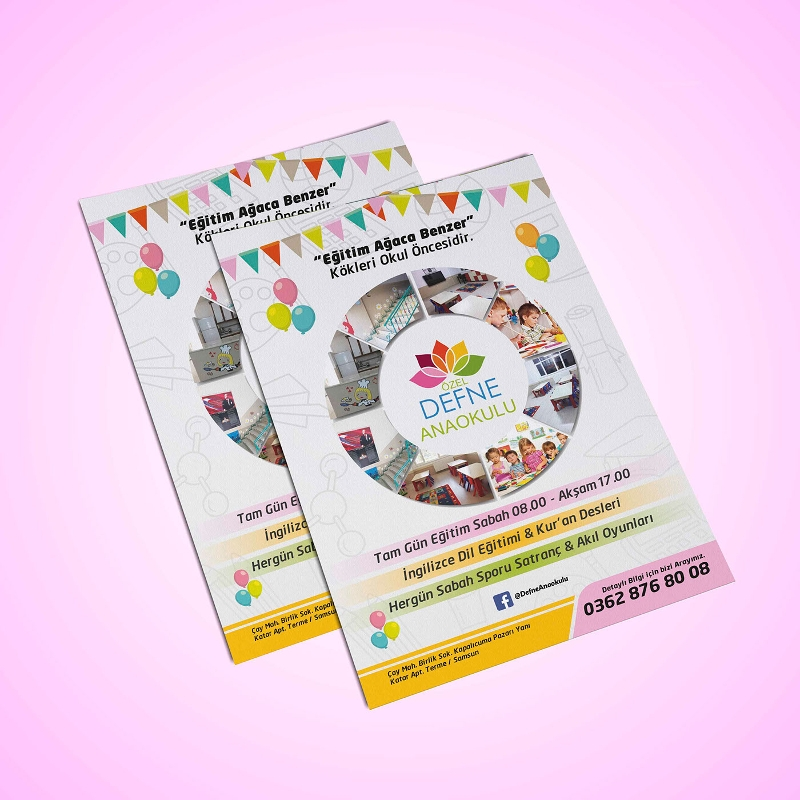 colorful kindergarten brochure