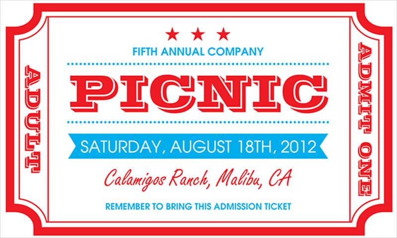 colorful picnic invitation template