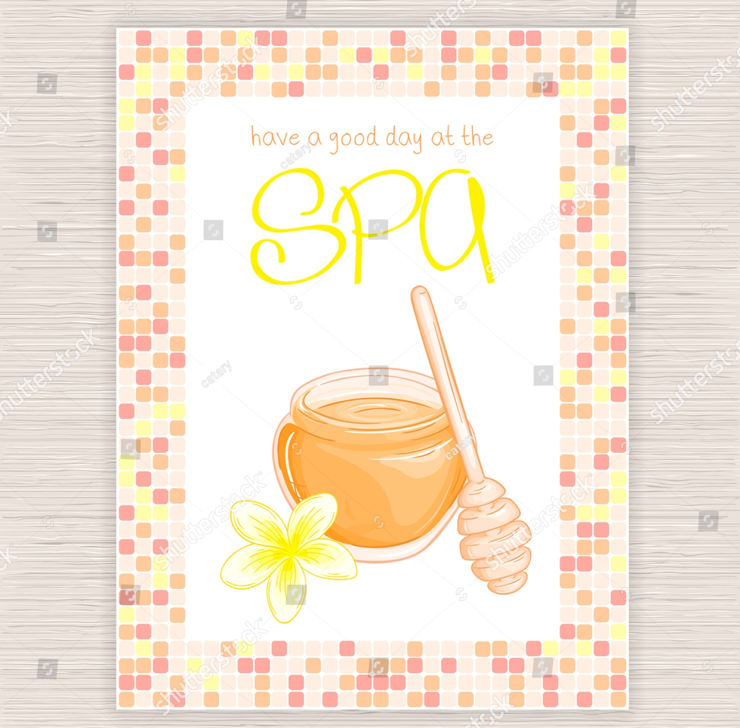 colorful spa party invitation