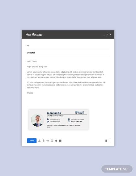 company ceo email signature