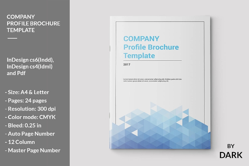 company profile brochure design template