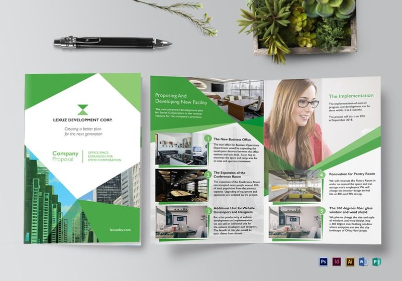 company proposal brochure template