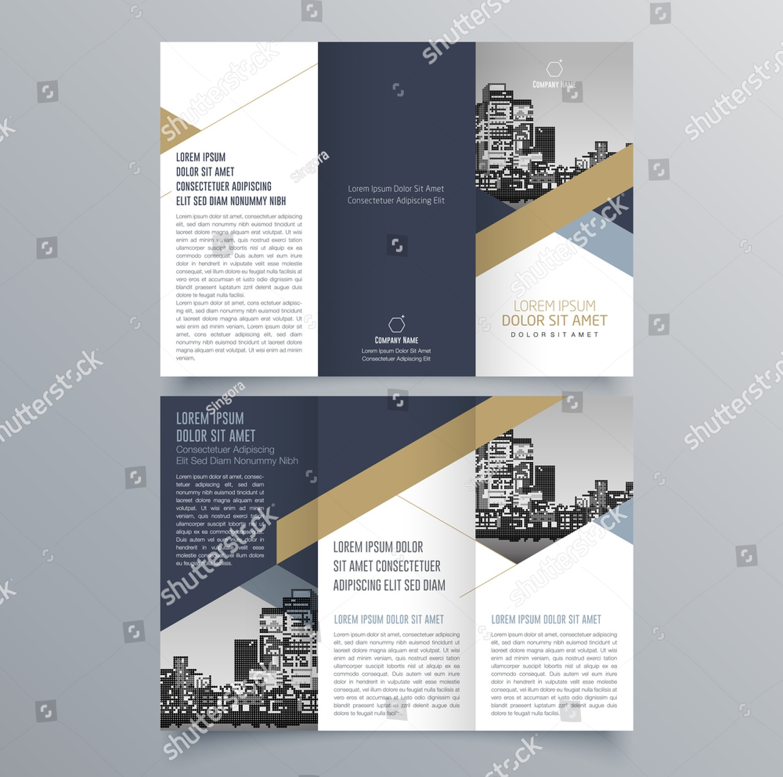 company tri fold brochure