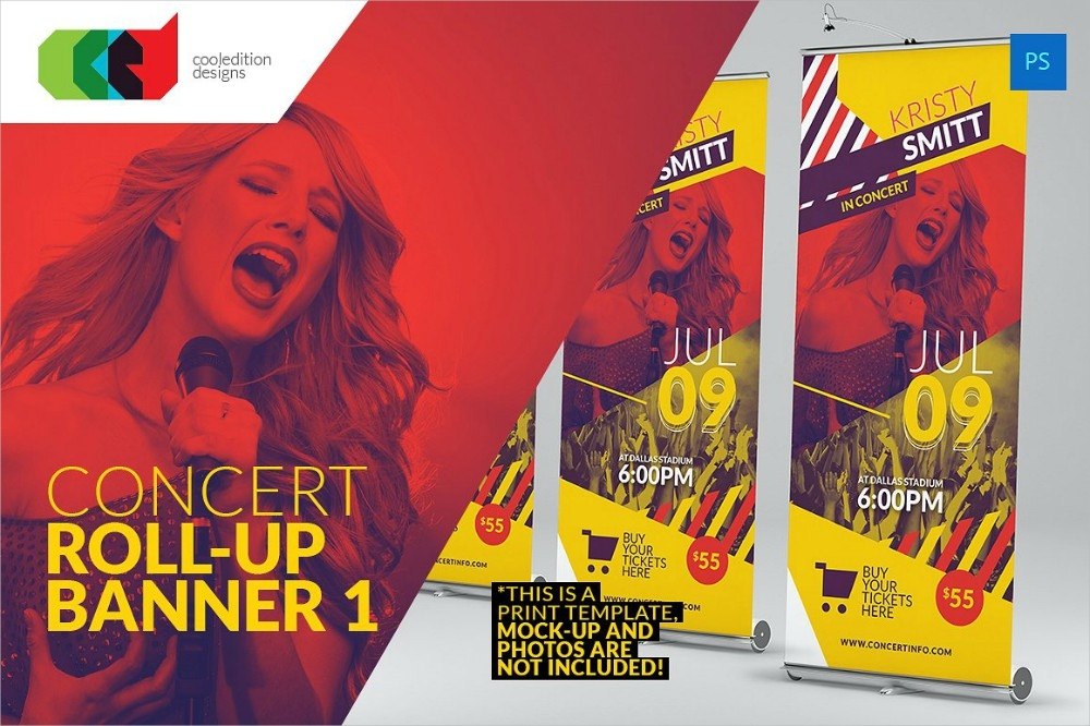 concert roll up banner
