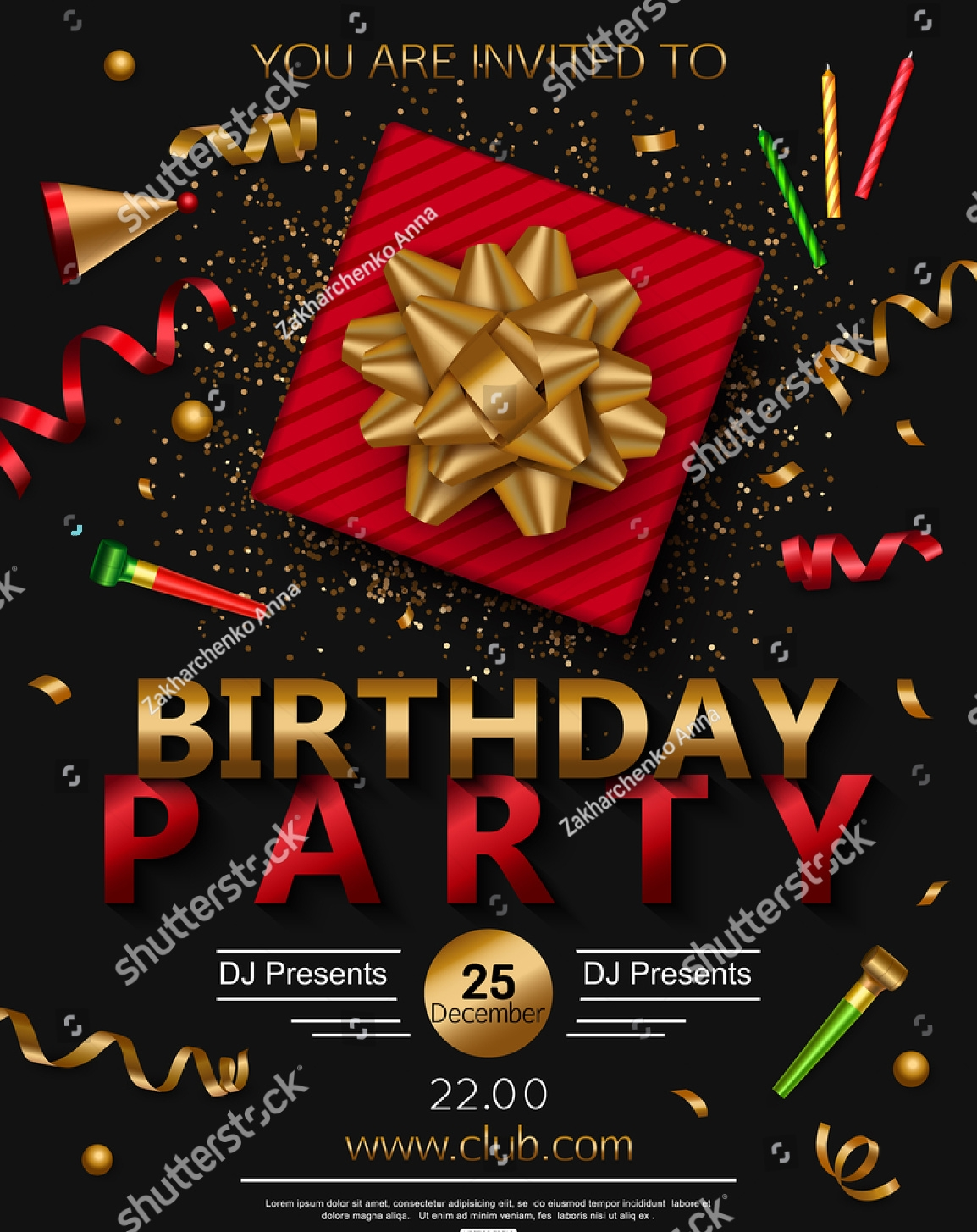 15+ Surprise Party Invitation Designs and Examples – PSD, AI