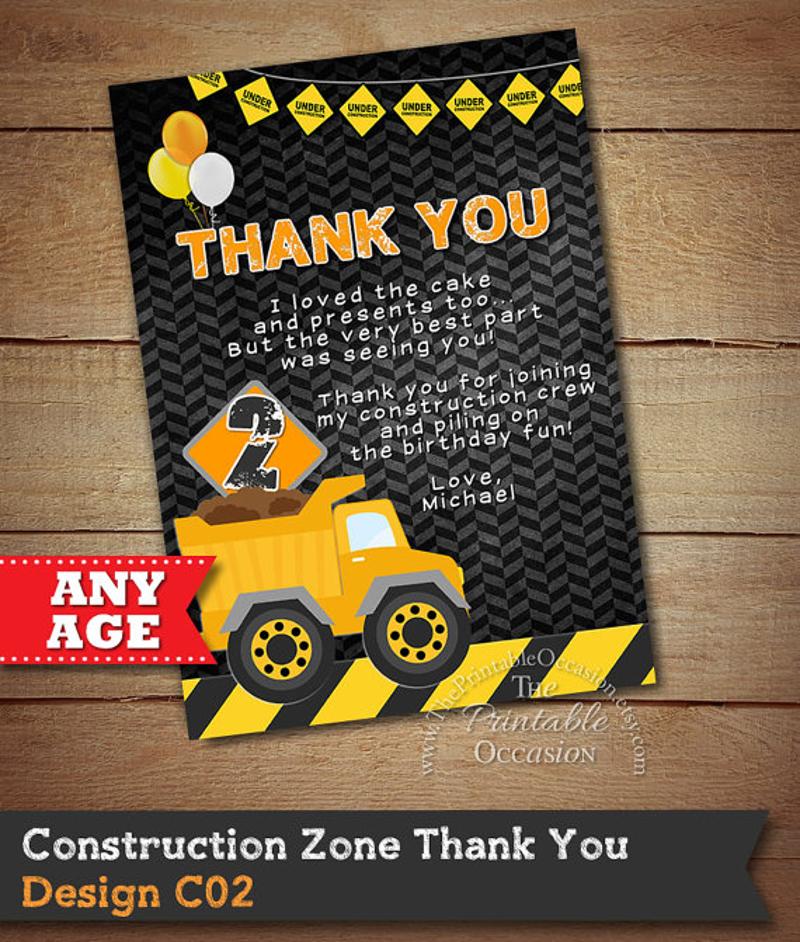 construction thank you invitation