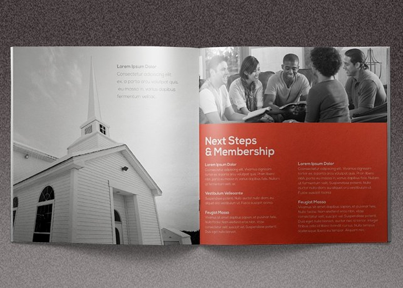 core church brochure template