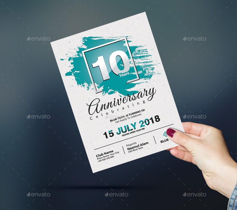 corporate anniversary party invitation