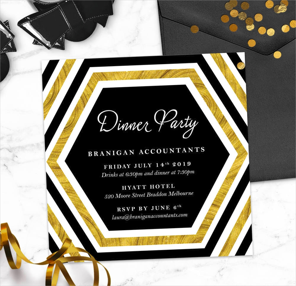 corporate dinner party invitation