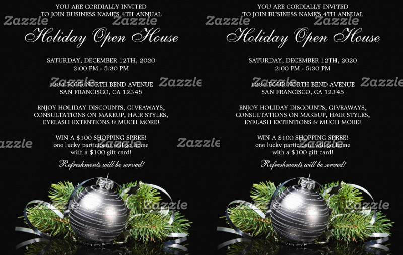 corporate holiday open house invitation template