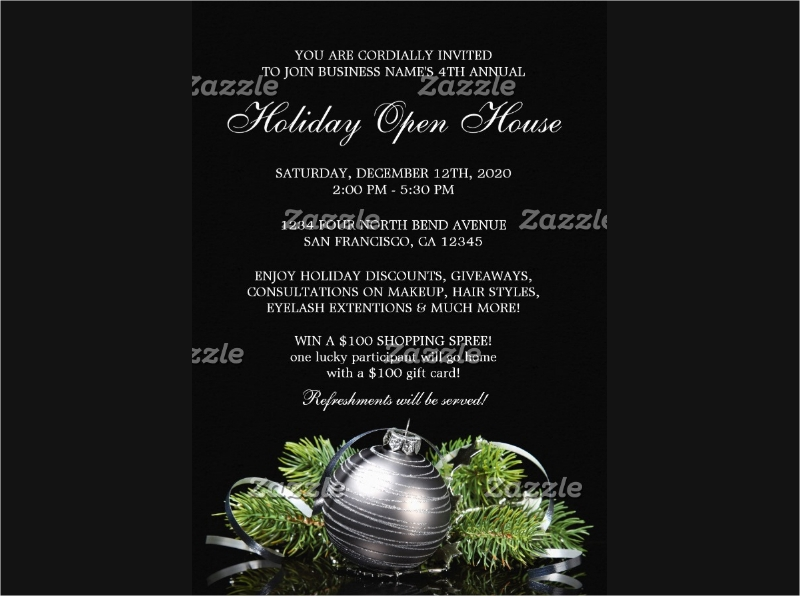 corporate holiday open house invitation